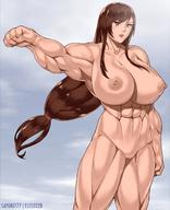 1girls abs areolae big_breasts breasts elee0228 female female_only final_fantasy final_fantasy_vii large_breasts muscles muscular muscular_female nipples nude pussy sayori777 solo tifa_lockhart // 1200x1478 // 169.4KB