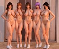 3d 5girls abs absurdres areolae ayame ayane black_hair breasts brown_hair daughter dead_or_alive female full_body hand_on_hip highres kasumi_(doa) king_of_fighters long_hair looking_at_viewer mai_shiranui momiji_(ninja_gaiden) mother_and_daughter multiple_girls navel ninja_gaiden nipples nude purple_hair pussy radianteld red_eyes short_hair snk source_filmmaker source_request standing the_king_of_fighters uncensored very_long_hair // 1260x1044 // 241.7KB