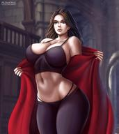1girls abs armpits ass avengers bare_shoulders beauty_mark belly big_breasts blue_eyes breasts brown_hair cleavage clothed clothing curvy female female_only flowerxl hair huge_breasts large_ass large_breasts long_hair marvel marvel_cinematic_universe midriff muscular muscular_female navel panties pants scarlet_witch solo standing tank_top text thick_thighs url wanda_maximoff watermark wide_hips // 880x989 // 79.6KB
