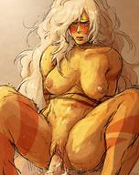1boy 1girls Steven_Universe abs areolae arms_behind_back artist_request ass big_ass big_breasts blonde_hair blush breasts cowgirl_position duo eye_contact female female_focus gem_(species) half-closed_eyes jasper_(steven_universe) large_breasts larger_female long_hair looking_at_viewer male male_pov muscular muscular_female nipples nude on_top orange_skin penis pov pussy restrained riding rope size_difference sketch smaller_male solo_focus source_request spread_legs straddling sweat thick_thighs vaginal_penetration very_long_hair wet white_hair wide_hips // 1020x1288 // 273.8KB