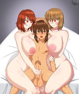 1boy 2girls androgynous balls between_breasts chara elf excessive_precum femdom handjob huge_breasts large_breasts large_penis larger_female legs_crossed molestation original_character puffy_nipples red_eyes reverse_rape scrambles-sama sharp_teeth sitting_on_bed size_difference small_but_hung smaller_male smile squirting stroking submissive_male undertale // 1080x1289 // 163.9KB